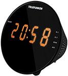 Радиоприемник и радиочасы  Telefunken  TF-1572 (черный с янтарным)