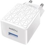 Зарядное устройствo для мобильных телефонов, планшетов, ноутбуков  Nobby  Practic 1USB, 1.2А, NBP-TC-12-02, белый