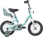 Велосипед детский  Novatrack  12`` MAPLE, серо-зелёный, 124 MAPLE.GR9