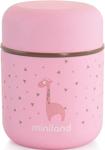 Посуда для детей  Miniland  Silky Thermos Mini, цвет розовый, 280 мл 89245