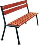 Мебель для дачи  Хоббика  Прима без подлокотников, 1.5м, ангарская сосна, цвет махагон 7019