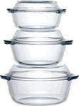 Набор посуды для СВЧ-печей  Pasabahce Borcam  Sets 3 шт 0,56л/1 л/1,5л