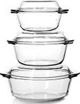 Набор посуды для СВЧ-печей  Pasabahce Borcam  Sets 3 шт 1л /1,5л /2л