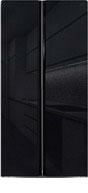 Холодильник Side by Side  Ginzzu  NFK-462 черное стекло