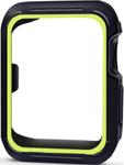 Умные часы и браслет  Eva  для Apple Watch 38mm Черный/Зеленый (AVC007)