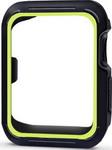 Умные часы и браслет  Eva  для Apple Watch 42 mm Черный/Зеленый (AWC007)