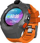 Детские часы с GPS поиском  JET  KID GEAR оранжевый серый