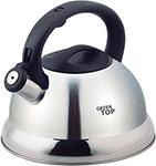 Чайник  KORALL  GS-04017A-2.7L 2.7л со свистком, бакелит.ручка, стальной цвет, матов.верх