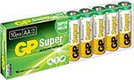 Батарейка, аккумулятор и зарядное устройство  GP  Super Alkaline 15A LR6 AA (10шт)