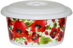 Товар для дома  Виолет  10л с декором ``Красные маки`` с крышкой 71068