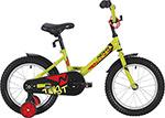 Велосипед детский  Novatrack  12`` TWIST салатовый, тормоз нож., корот.крылья, полная защита цепи