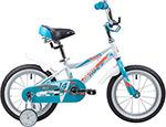 Велосипед детский  Novatrack  14``, NOVARA, алюм., белый, тормоз нож, короткие крылья, нет багажника