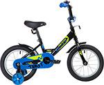 Велосипед детский  Novatrack  14`` TWIST черный, тормоз нож, крылья корот, полная защ.цепи