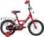 Велосипед детский  Novatrack  14``, URBAN, красный, полная защита цепи, тормоз нож., крылья и багажник хром