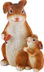 Фигурка и подставка  Park  Кролик с крольчонком 169294
