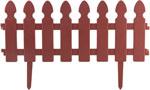 Садовый бордюр и ограждение  Park  Штакетник декоративный L=2м, H=21см (4шт по 50см и 8 ножек) терракотовый 999143