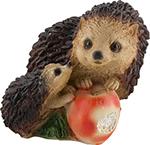 Фигурка и подставка  Park  Ежики с яблоком 169351