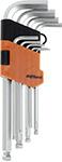 Набор инструментов  AV Steel  Г-образных HEX с шаром удлиненных 1,5-10мм 9 предм. AV-365109