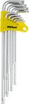 Набор инструментов  AV Steel  Г-образных TORX экстрадлинных T10-T50 9 предм. AV-369109
