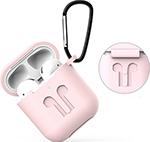 Наушники  Eva  для наушников Apple AirPods 1/2 с карабином - Розовый (CBAP01P)