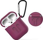 Наушники  Eva  для наушников Apple AirPods 1/2 с карабином - Фиолетовый (CBAP01PR)