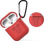 Наушники  Eva  для наушников Apple AirPods 1/2 с карабином - Красный (CBAP01R)