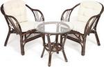 Мебель для дачи  Tetchair  террасный ``NEW BOGOTA`` (2 кресла и стол) ротанг, walnut (грецкий орех), 13343