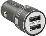 Зарядное устройствo для мобильных телефонов, планшетов, ноутбуков  Red Line  Tech 2 USB (модель AC-5), 2.4А черный