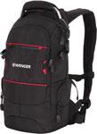 Рюкзак и термосумка  Wenger  чёрный/красный, полиэстер 1200D PU, 23х18х47 см, 22 л, 13022215