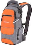 Рюкзак и термосумка  Wenger  серый/оранжевый/серебристый, полиэстер 1200D PU, 23х18х47 см, 22 л, 13024715-2