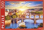 Настольная развивающая и обучающая игра  Рыжий кот  500 элементов. ЧЕХИЯ. РАССВЕТ ПОД ПРАГОЙ ГИП500-0609