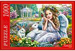 Настольная развивающая и обучающая игра  Рыжий кот  1000 элементов. Ф1000-6792 АНГЕЛ И КРОЛИКИ Ф1000-6792