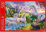 Настольная развивающая и обучающая игра  Рыжий кот  500 элементов. ЕДИНОРОГИ И ВОЛШЕБНЫЙ ЗАМОК Ф500-2178