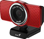 Web-камера для компьютеров  Genius  ECam 8000, red, Full-HD 1080p, USB (32200001401)
