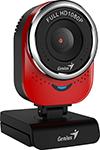 Web-камера для компьютеров  Genius  QCam 6000, red, Full-HD 1080p, USB (32200002401)