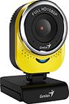 Web-камера для компьютеров  Genius  QCam 6000, yellow, Full-HD 1080p, USB (32200002403)