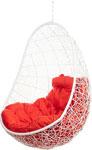 Качели садовые  Bigarden  ``Easy``, белое, без стойки, красная подушка, EasyWhiteBSR, 2229690698979