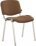 Офисное кресло  Brabix  ``Iso CF-001``, хромированный каркас, ткань коричневая, 531421