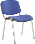 Офисное кресло  Brabix  ``Iso CF-001``, хромированный каркас, ткань синяя с черным, 531422