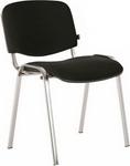 Офисное кресло  Brabix  ``Iso CF-001``, хромированный каркас, ткань черная, 531419