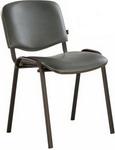 Офисное кресло  Brabix  ``Iso CF-005``, черный каркас, кожзам серый, 531979