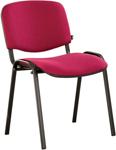 Офисное кресло  Brabix  ``Iso CF-005``, черный каркас, ткань бордовая, 531975