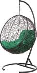 Качели садовые  Bigarden  ``Kokos``, черное, со стойкой, зеленая подушка, KokosBlackG, 2340020559170