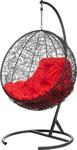 Качели садовые  Bigarden  ``Kokos``, черное, со стойкой, красная подушка, KokosBlackR, 2229690692250