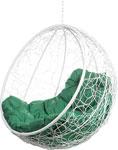 Качели садовые  Bigarden  ``Kokos``, белое, без стойки, зеленая подушка, KokosWhiteBSG, 2229690691758