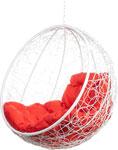 Качели садовые  Bigarden  ``Kokos``, белое, без стойки, красная подушка, KokosWhiteBSR, 2229690699822