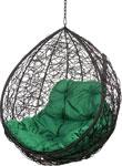 Качели садовые  Bigarden  ``Tropica``, черное, без стойки, зеленая подушка, TropicaBlackBSG, 2229690709439