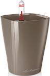 Емкость для растений  Lechuza  MINI-DELTINI, с субстратом в комплекте, пластик, серо-коричневое, Д10 В13 см, 0,4 л, 14959