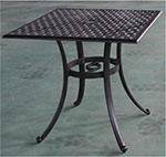 Мебель для дачи  Linyi  Конвессо квадратный 76х76см столешница, SH206 Черный с бронзой
