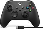 Руль, джойстик, геймпад  Microsoft  Xbox One ЧЕРНЫЙ + кабель USB Type-C (1V8-00008)